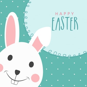 Happy easter background with cute rabbit