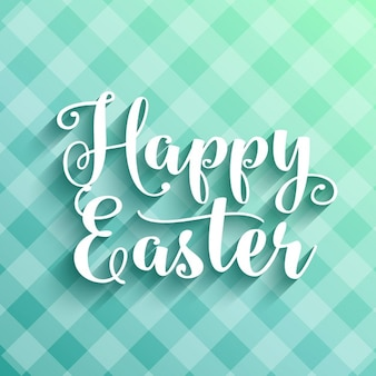 Happy Easter background with decorative typography