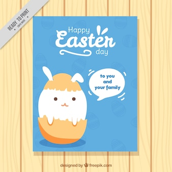 Happy easter day brochure
