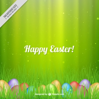 Happy Easter green background