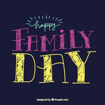 Happy family day background