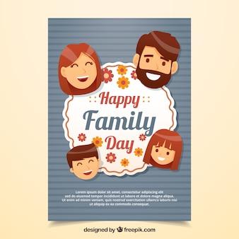 Happy family day card