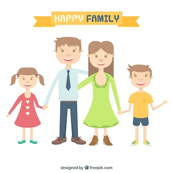 幸せな家族のイラスト