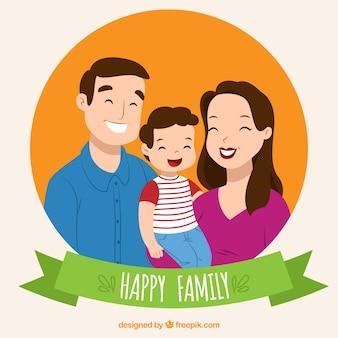 Happy family portrait background