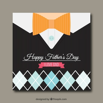 Happy father's day card with rhombus