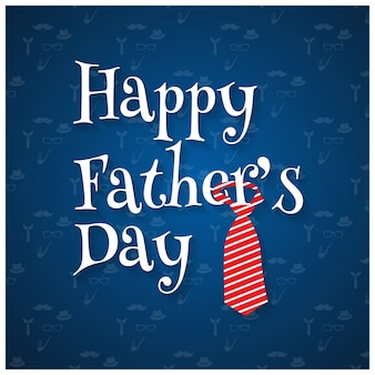 Happy fathers day design with tie