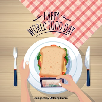 Happy food day background
