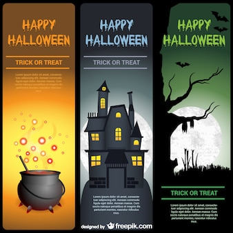 Happy Halloween banner templates pack