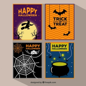 Happy halloween cards collection