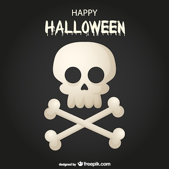 Happy Halloween skull and bones background