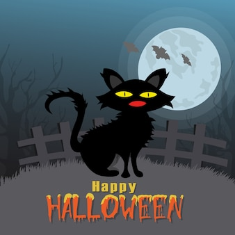 счастливый вектор Хэллоуина