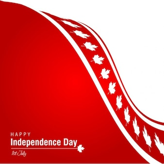 Happy independence day canada red background