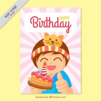 Happy kid birthday card
