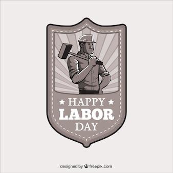 Happy labor day badge