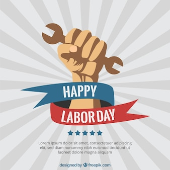 Happy labor day poster