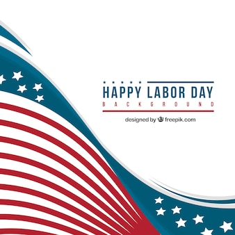 Happy labor day with american flag