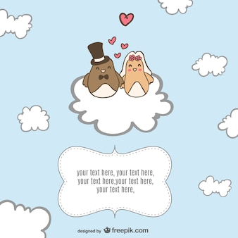 Happy love birds illustration