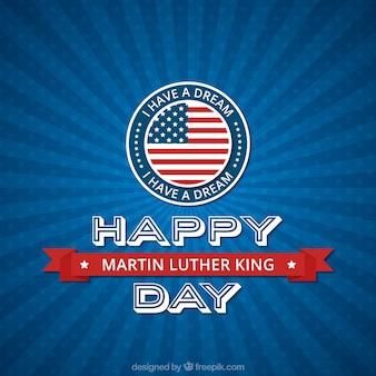 Happy martin luther king day with sunburst background