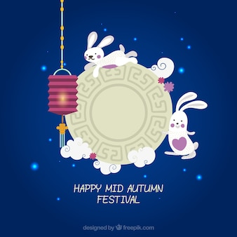Happy mid autumn festival