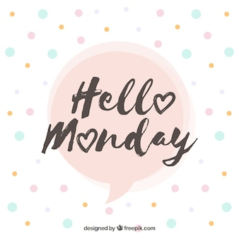 Happy monday color circles background