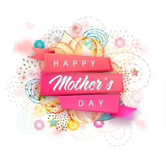 Happy mother's day with abstract background