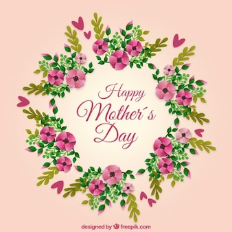 Happy mother's day wreath background