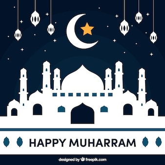 Happy muharram background