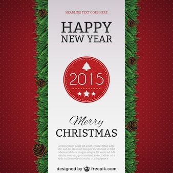 Happy New Year 2015 poster template