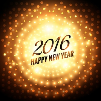 happy new year 2016 glowing greeting