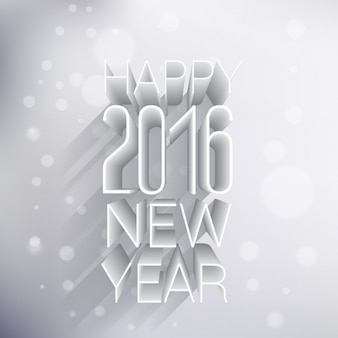 happy new year 2016 greeting in 3d style