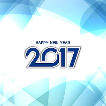 Happy new year background in blue tones