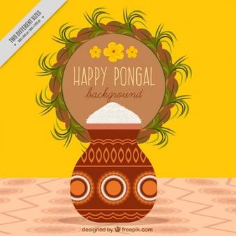 Happy pongal decorative background