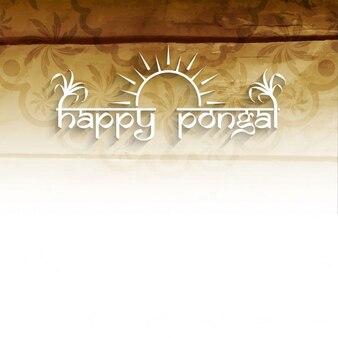 Happy pongal, light brown background