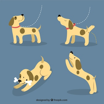 Happy puppy illustration