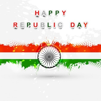 Happy Republic day Indian flag card