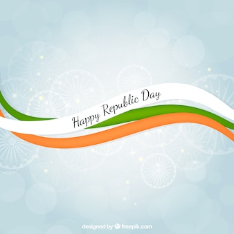 Happy republic day ribbons