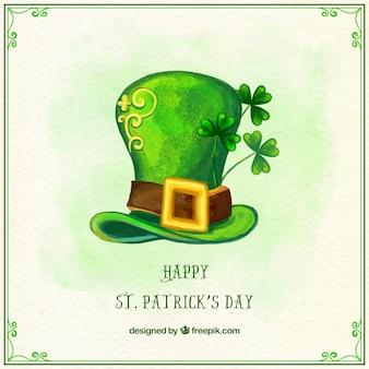 Happy saint patrick's watercolor hat background