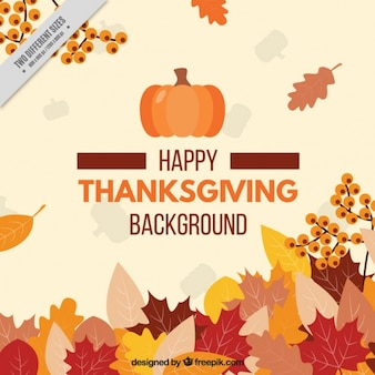 Happy thanksgiving day with a floral background