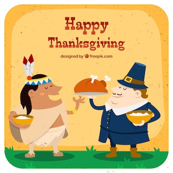 Happy thanksgivng characters