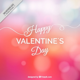 Happy valentine bokeh background