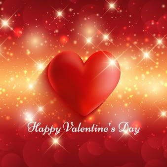 Happy valentine day glowing background