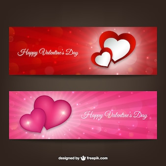 Happy Valentine's Day banners