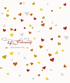 Happy valentines card with hearts background