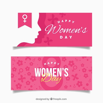 Happy woman's day banners
