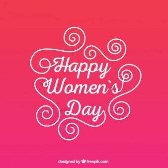 ハッピー女性の日のグリーティングカード
