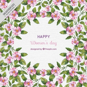 Happy women's day with beautiful flowers
