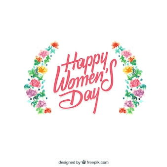 Happy women's day with flowers