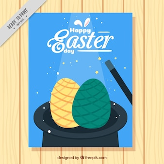 Hat flyer with easter eggs