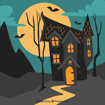 Haunted house with fun style