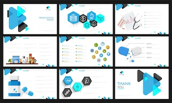 Health and Medical presentation template design.